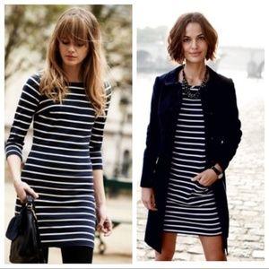 Boden Breton Navy & White Striped Tunic Dress Sz 8